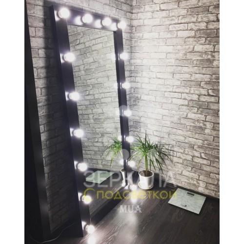 Гримерное зеркало с подсветкой венге 175х80