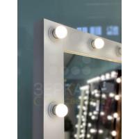 Гримерное зеркало с лампами в полный рост на подставке с колесиками 180х80