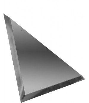Треугольная зеркальная плитка графит 250х250 мм